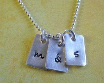 custom tiny silver charm necklace