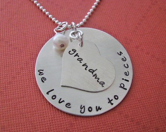 custom grandma necklace - personalize with your names or message