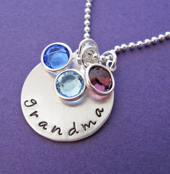 personalized grandma's jewels necklace