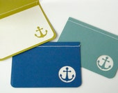 Reserved Listing for blancshop- Set of 6 4bar Summer Anchors Note Cards