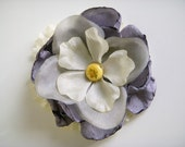 Lady Grey Floral Brooch
