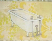 Bathtime Original Mixed Media Painting