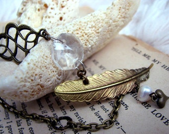 Love of Writing Quill Pen Bracelet -Feather Jewelry - Writer's Bracelet