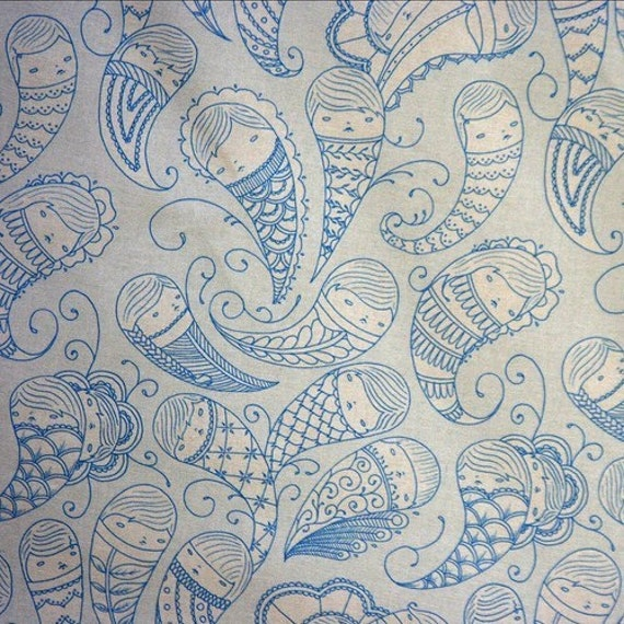 Ghostly Paisley Fabric Fat Quarter
