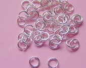 125 Sterling Silver Plated Jump rings Great For Pendant Trays 4.5mm  ND203