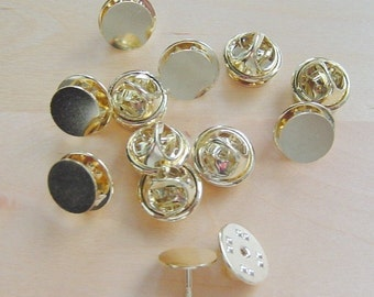 24 Pieces Brass Tie Tack With Clutch Brass Plated