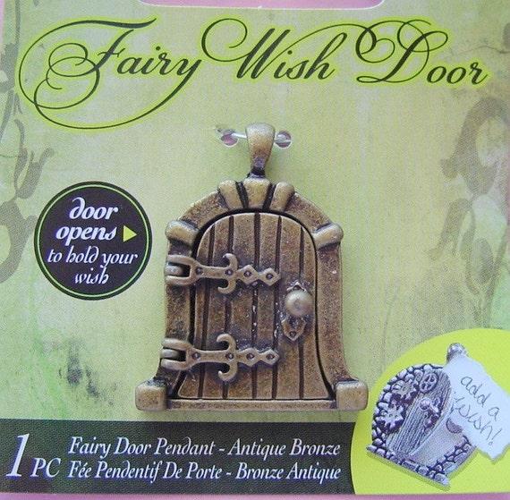 Fairy Door Wish Keeper Locket / Pendant Antique Bronze 2005