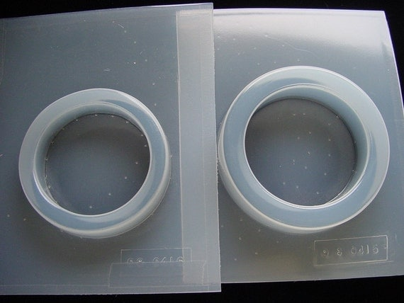 2 Resin Molds Bangle Bracelet Jewelry Molds Deep Flez 5/8 and 3/4 Inches High (415 416)