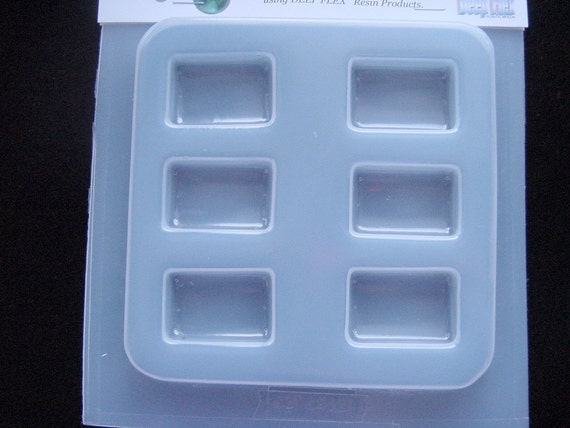 Rectangle Resin Jewelry Mold Featuring 6 Rectangles No. 412