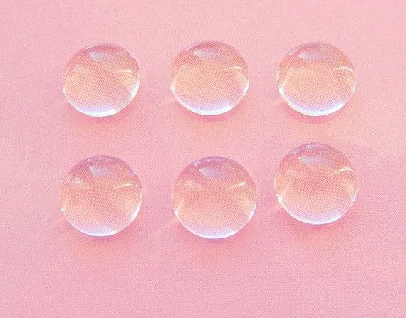 6 Clear Custom Glass Domes for Pendant Tray Blanks 11mm (ND159)