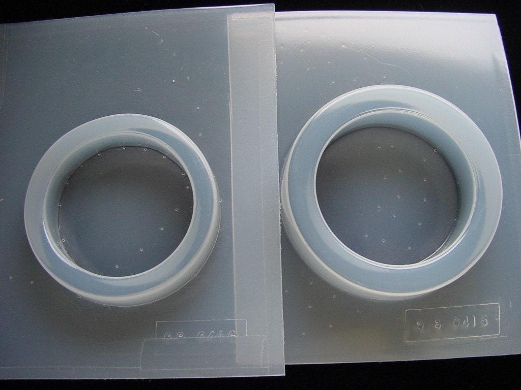 2 resin molds bangle bracelet jewelry molds by