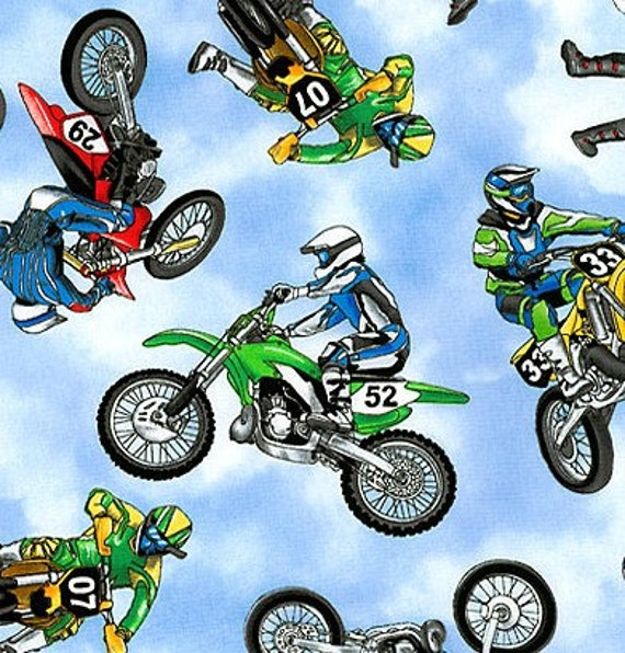 Motocross Toddler Bedding