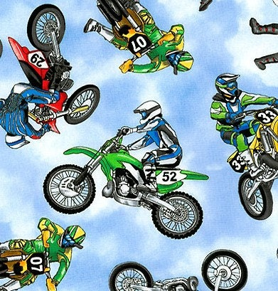 Dirt Bike Motocross Toddler Bedding Set And Curtains Plus