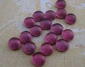 Tiny 5mm Amethyst Preciosa Gold Foiled Flat Back Round Glass Cabs or Stones (12 pieces)
