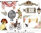 VINTAGE ELEMENTS Gamma - Digital Collage Sheet (No 018)