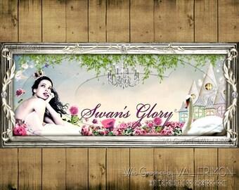 Swan's Glory -- Blog / Website HEADER (banner) - ON SALE