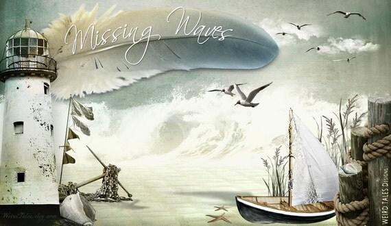 Missing Waves // Pre-Designed Etsy Storefront Graphic Set