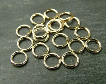 10pcs Gold Filled Open Jump Ring 5mm - 20 gauge (CG1269)