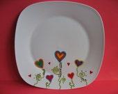 Guest Signature Platter - flower