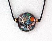 Lampwork Abstract Bead Signed