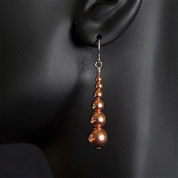 Earrings in Copper light and fun