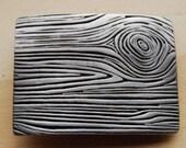 Pewter Woodgrain Belt Buckle
