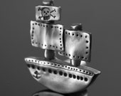 Goonies the Pirate Ship Pewter Knob