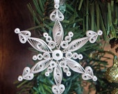 Snowy Magic Quilled Snowflake Ornament