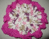 Crochet Flower Dishcloth, Cotton Dishcloth, Crochet Dishcloth, Dishcloth, Housearming Gift, Eco Friendly, Reusable Cloth