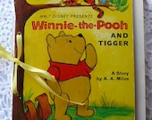 Weekly Planner 2013-Winnie the Pooh -  Vintage Altered LIttle Golden Book, Journal, Note Card Set