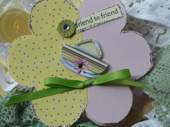 Greeting Card Flower Power -Friend to Friend
