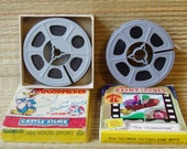 Two Vintage Films -- Flintstones Super 8 and Woody Woodpecker 8mm
