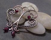 Tutorial for Rustic Heart Earrings.