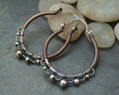 50% off Tutorial Sale-Tutorial for Silver Lace Hoop Earrings.