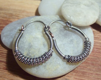 50% off Tutorial Sale-Tutorial for Wire Wrapped Hoop Earrings.