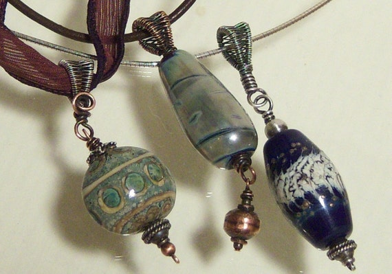 Tutorial for Pendant with Wire Woven Bail. Buy one get one free.