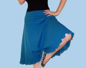 Teal Jersey Knit Circle Skirt - Misses Size Medium M (8-10)