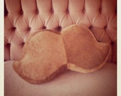 The ORIGINAL Corduroy Mustache Pillow on Etsy (Brown)