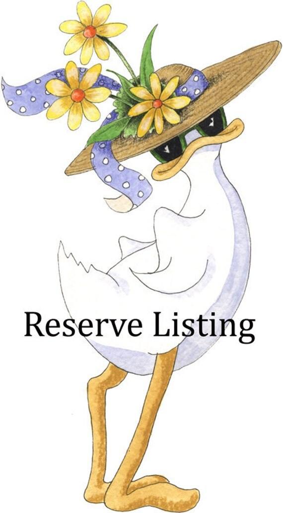Reserve listing for Etsy member Elissaann814