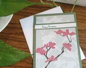 YART Sale- Cherry blossoms birthday card