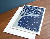 Winter night holiday card (set of ten)