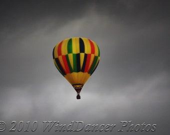 Cloud Challenger - Hot Air Balloon Fine Art Photo - Balloon Fiesta - Travel Photo - Home Decor - Office Decor
