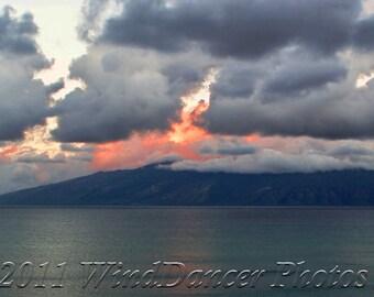 Dawn's Kiss - Fine Art Sunrise Photograph - Maui Sunrise - Hawaii Sunrise - Hawaii Photo - Home Decor - Office Decor
