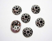 Antique Silver plated 10x4mm Bead Cap. Pkg of 50 ...  SBc006