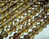 Tortoise Shell\/Smokey Topaz Glass Roundels