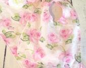 Beautiful Shabby Chic Bib/Burpcloth Set