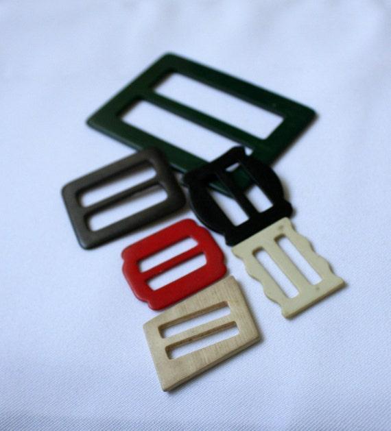 Vintage Plastic Belt Buckles