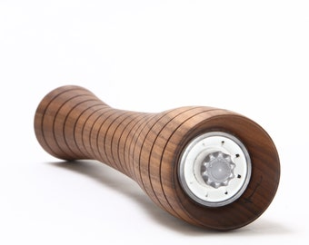 """12"""" Walnut Pepper or Salt Mill - Curved Grooved (12cg)"""