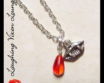 Vampire Necklace - Vampire Jewelry - Vampire Smile Necklace - Horror Jewelry - Horror Necklace - Vampire Pendant
