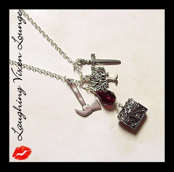 Snow White Jewelry - Huntsman Necklace A - Fairy Tale Fairytale Jewelry - Snow White Necklace - Fairytale Fairy Tale Necklace - Dark Grimm